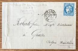 France, Bordeaux Sur Lettre Pour Grasse 18 Mai 1871 (Commune) - Ambulant PA + Besançn à Paris - (B1435) - Poststempel (Briefe)