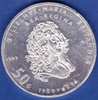 Netherland - Beatrix Koningin, Anniversaty King Willian And Queen Mary, 50 Gulden / 1988 - Silver - [ 3] 1815-… : Kingdom Of The Netherlands