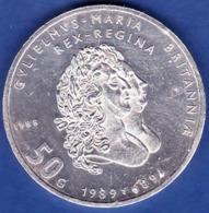Netherland - Beatrix Koningin, Anniversaty King Willian And Queen Mary, 50 Gulden / 1988 - Silver - 1980-…: Beatrix
