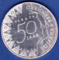 Netherland - Beatrix Koningin, 50 Gulden / 1987 - Silver - 1980-…: Beatrix