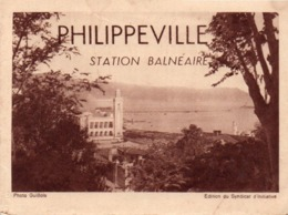 910Cr  Algerie Philippeville Petit Dépliant Touristique Ancien - Algérie