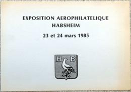 FRANCE 1985 Document Philatélique HABSHEIM Aviatik Pionniers Spengler Jeannin Biplan Reconnaissance 1910 (500 Ex) [GR] - Transport