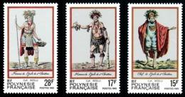 POLYNESIE 1983 - Yv. 202 203 Et 204 **   Cote= 2,45 EUR - Costumes Anciens îles Marquises (3 Val.)  ..Réf.POL24499 - Frans-Polynesië