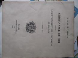 SAINT PIERRE ET MIQUELON ORDONNANCE SUR LE GOUVERNEMENT DE LA COLONIE 1844 CANADA - Documents Historiques