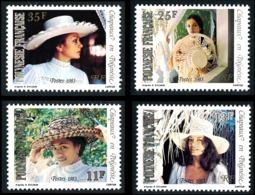 POLYNESIE 1983 - Yv. 198 199 200 Et 201 **   Cote= 3,20 EUR - Chapeaux Tressés (4 Val.)  ..Réf.POL24498 - Neufs