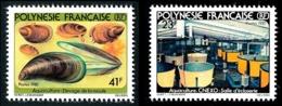 POLYNESIE 1981 - Yv. 163 Et 164 **   Cote= 4,00 EUR - Aquaculture : Moule (2 Val.)  ..Réf.POL24484 - Neufs