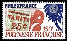 POLYNESIE 1982 - Yv. 180 **   Faciale= 1,26 EUR - PhilexFrance'82 Timbre Sur Timbre  ..Réf.POL24490 - Neufs
