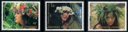POLYNESIE 1983 - Yv. 205 206 Et 207 **   Cote= 3,30 EUR - Couronnes De Fleurs (2 Val.)  ..Réf.POL24500 - Neufs