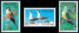 POLYNESIE 1981 - Yv. 168 169 Et 170 **   Faciale= 1,39 EUR - Oiseaux (3 Val.)  ..Réf.POL24486 - Neufs