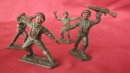 Anciens Jouets 5 Soldats En Plastique Lone Star Harvey Series Made In Britain - Unclassified