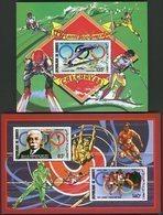 DJIBOUTI 2 BLOCS FEUILLETS SPECIAUX DE LA POSTE AERIENNE N° 636 à 638 **. JEUX OLYMPIQUES DE 1988. TB - Winter 1988: Calgary