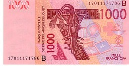 West African States Benin P.215 1000 Francs 2017 Unc - Benin