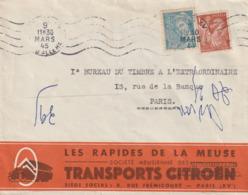 Les Rapides De La Meuse Transport Citroen Mars 45 - Transports