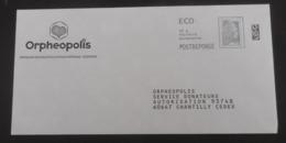 PAP Réponse ORPHEOPOLIS  - Agrément 183372  Pas De N° à L'intérieur - Marianne L'Engagée Yseult Digan Alias YZ - Catelin - Postwaardestukken