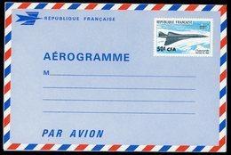 REUNION AEROGRAMME 50 Fr CFA CONCORDE NEUF Cote 130 €. TB - Concorde