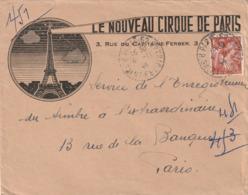 Enveloppe Le Nouveau Cirque De Paris Tour Eiffel - Autres Collections