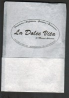 Serviette Papier Paper Napkin Tovagliolino Caffè Bar Keys Aperitivi Caffetteria Drink LA DOLCE VITA Scorrano (Lecce) - Serviettes Publicitaires