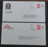 PAP Réponse Abbé Pierre & Médecins Sans Frontières Agrément 226184 & 199209  Marianne L'Engagée Yseult Digan YZ Catelin - Postwaardestukken