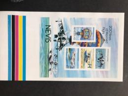 Nevis Manned Flight S/S Proof Sheet - St.Kitts Y Nevis ( 1983-...)