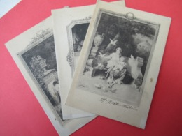 3 Menus Anciens/Souvenir Baptême/André Feibel/3  Gravures Type 18éme/Restaurant Voyenne,Place Voltaire/1925      MENU298 - Menus