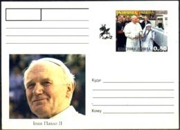 MOTHER TERESA WITH JOHN POPE PAUL-II-PREPAID POST CARD-ABKHAZIYA-MNH-MC-103-14 - Mutter Teresa