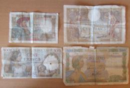 France - Lot De 4 Billets 50 à 500 Francs : 50 Francs 1941 H.37 / 100 Francs Merson 1935 C.49853, Etc... - France