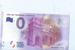 2016 BILLET TOURISTIQUE 0 Euro  Arc De Triomphe D'orange   Dpt 84  Port 1.30 - EURO