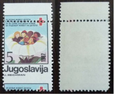 Yougoslavie Nobel Red Cross Croix Rouge   Perforation Décalée  MNH - Nobel Prize Laureates