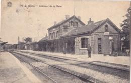 Statte Intérieur De La Gare Circulée En 1909 - Huy