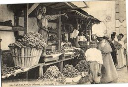 CPA MAROC CASABLANCA Marchands De Fruite (23324) - Casablanca