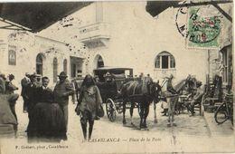 CPA MAROC CASABLANCA Place De La Poste (23409) - Casablanca