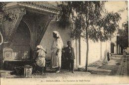 CPA MAROC CASABLANCA Le Fontaine (23543) - Casablanca