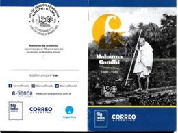 ARGENTINA 2019 INDIA MAHATMA GANDHI 150° ANIVERSARY POST OFFICIAL BROCHURE  NEUF,MNH,POSTFRISCH - Argentina