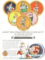 """PUB """" VACHE QUI RIT """"  Et  """" ASTERIX Et OBELIX  """"   1967 - Astérix"""