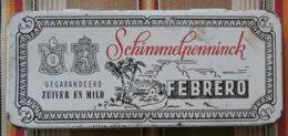 Ancienne Boite A Cigares En Tole Schimmelpenninck FEBRERO Germany Holland - Sonstige