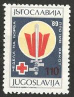 Yougoslavie 1989 Nobel Red Cross Croix Rouge  MNH - Nobel Prize Laureates