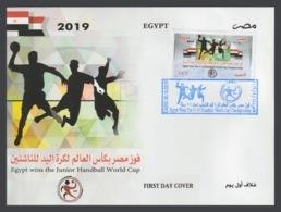 Egypt - 2019 - FDC - ( Egypt Wins The Junior Handball World Cup ) - Pallamano