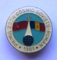 Romania, 1981, Vintage Astronaut (Cosmonaut) Pin / Badge - Associations