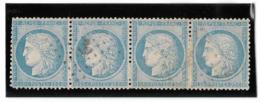TIMBRE 60/1   ; BANDE DE 4 ; 31/32/33/34 A2 ; Oblitéré ANCRE;TTB - 1871-1875 Cérès