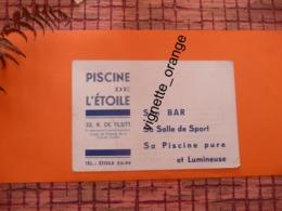 PISCINE DE L ETOILE Bar Salle De Sport Tarif De L étoile - Rue De Tilsitt ( Leçon Natation Par G POUILLEY  Médaille D Or - Cartes De Visite