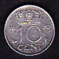 Netherland - 10 Cent / 1970 - [ 3] 1815-… : Kingdom Of The Netherlands