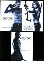 3 Cp Blade Trinity Wesley Snipes Denmark Danemark - Affiches Sur Carte