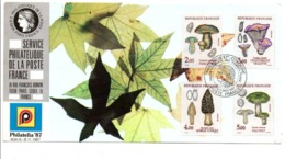 OBLITERATION STAND POSTE FRANCE A PHILATELIA 87 COLOGNE SERIE CHAMPIGNONS - Commemorative Postmarks