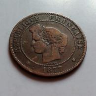 CERES   5 Centimes 1877 K  (B11 36) - Francia