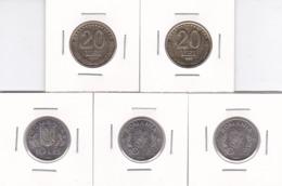 Romania, Lot Of 5 Coins - 10 Lei 1995-1996 FAO, 20 Lei 1992-199 - Roemenië
