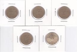 Romania, Lot Of 5 Coins - 50 Bani, Commemorative, 2011 & 2019 - Circulated - Roemenië