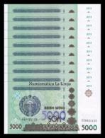 Uzbekistan Lot Bundle 10 Banknotes 5000 Sum 2013 Pick 83 SC UNC - Uzbekistán