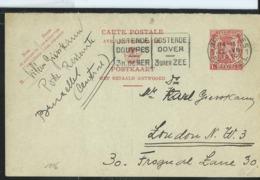 Carte Obl.  N° 116. I. FN.  Obl. Flamme Ostende-Douvres  De 1939 - Cartes Postales [1934-51]