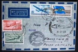 """Flugpost """"Meissen-Warschau"""" 1955 Sonderstempel - DDR"""