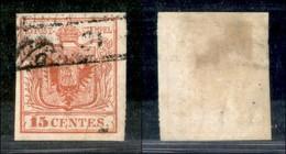 Antichi Stati Italiani - Lombardo Veneto - 1850 - 15 Cent (3a - Prima Tiratura) Usato - Francobolli
